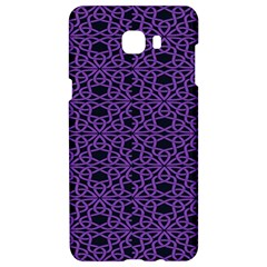 Triangle Knot Purple And Black Fabric Samsung C9 Pro Hardshell Case  by BangZart