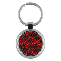 Volcanic Textures  Key Chains (round)