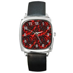 Volcanic Textures  Square Metal Watch by BangZart