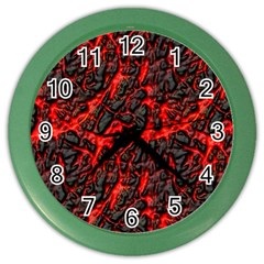 Volcanic Textures  Color Wall Clocks