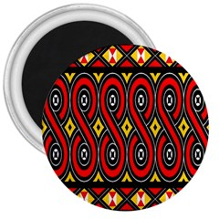 Toraja Traditional Art Pattern 3  Magnets