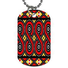 Toraja Traditional Art Pattern Dog Tag (two Sides)
