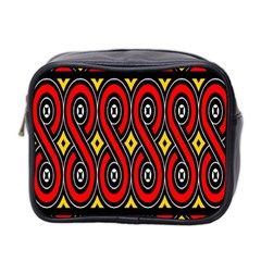 Toraja Traditional Art Pattern Mini Toiletries Bag 2 Side