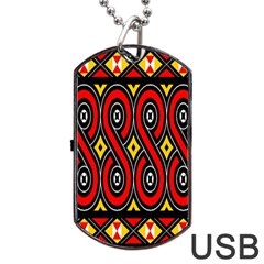 Toraja Traditional Art Pattern Dog Tag Usb Flash (two Sides)