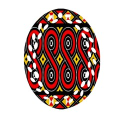 Toraja Traditional Art Pattern Oval Filigree Ornament (two Sides)
