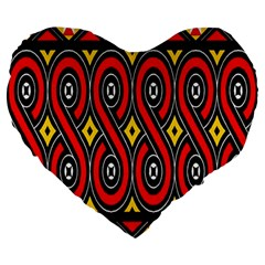 Toraja Traditional Art Pattern Large 19  Premium Heart Shape Cushions by BangZart