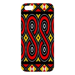 Toraja Traditional Art Pattern Apple Iphone 5 Premium Hardshell Case