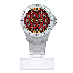 Toraja Traditional Art Pattern Plastic Nurses Watch