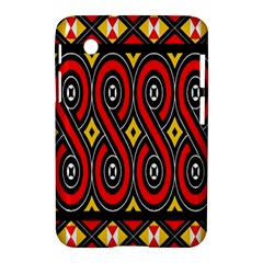 Toraja Traditional Art Pattern Samsung Galaxy Tab 2 (7 ) P3100 Hardshell Case
