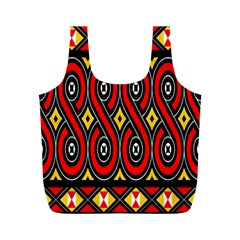 Toraja Traditional Art Pattern Full Print Recycle Bags (m)