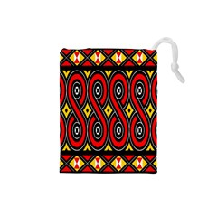 Toraja Traditional Art Pattern Drawstring Pouches (small)  by BangZart