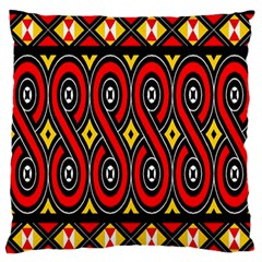 Toraja Traditional Art Pattern Standard Flano Cushion Case (two Sides)