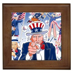 Independence Day United States Of America Framed Tiles