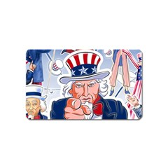Independence Day United States Of America Magnet (name Card) by BangZart
