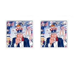 Independence Day United States Of America Cufflinks (square)