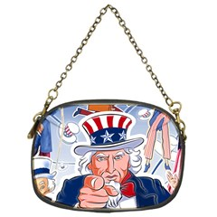 Independence Day United States Of America Chain Purses (one Side)  by BangZart