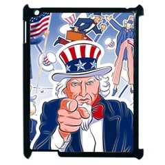 Independence Day United States Of America Apple Ipad 2 Case (black) by BangZart
