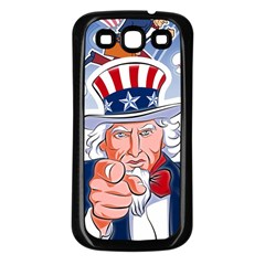 Independence Day United States Of America Samsung Galaxy S3 Back Case (black)