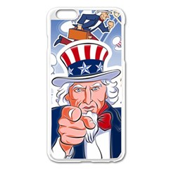 Independence Day United States Of America Apple Iphone 6 Plus/6s Plus Enamel White Case by BangZart