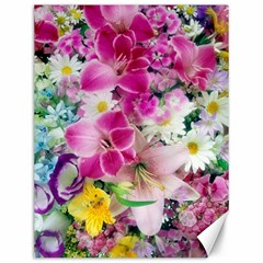Colorful Flowers Patterns Canvas 12  X 16