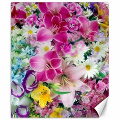 Colorful Flowers Patterns Canvas 20  X 24
