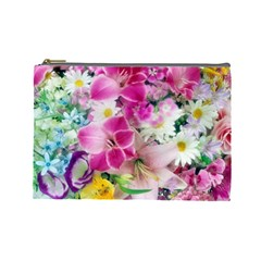Colorful Flowers Patterns Cosmetic Bag (large)