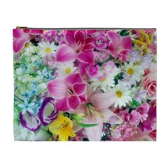 Colorful Flowers Patterns Cosmetic Bag (xl)