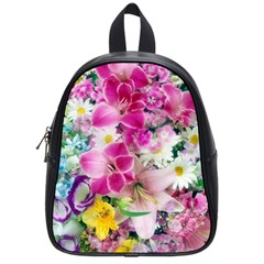 Colorful Flowers Patterns School Bags (small)