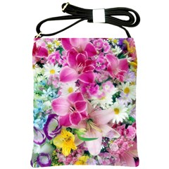 Colorful Flowers Patterns Shoulder Sling Bags by BangZart