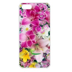 Colorful Flowers Patterns Apple Iphone 5 Seamless Case (white)