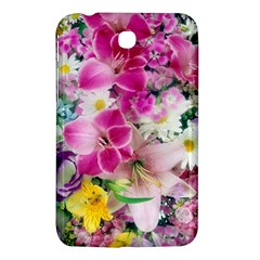 Colorful Flowers Patterns Samsung Galaxy Tab 3 (7 ) P3200 Hardshell Case
