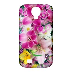 Colorful Flowers Patterns Samsung Galaxy S4 Classic Hardshell Case (pc+silicone)