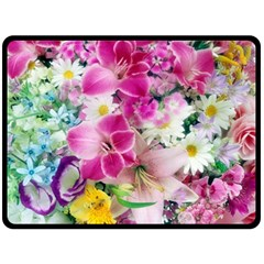 Colorful Flowers Patterns Double Sided Fleece Blanket (large)  by BangZart