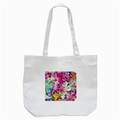 Colorful Flowers Patterns Tote Bag (white)