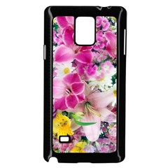 Colorful Flowers Patterns Samsung Galaxy Note 4 Case (black)