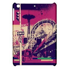 Pink City Retro Vintage Futurism Art Apple Ipad Mini Hardshell Case by BangZart
