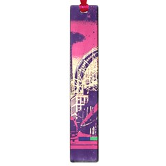 Pink City Retro Vintage Futurism Art Large Book Marks by BangZart
