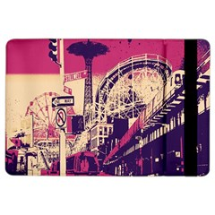 Pink City Retro Vintage Futurism Art Ipad Air 2 Flip