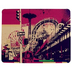 Pink City Retro Vintage Futurism Art Jigsaw Puzzle Photo Stand (rectangular)