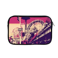 Pink City Retro Vintage Futurism Art Apple Macbook Pro 13  Zipper Case