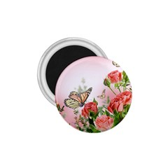 Flora Butterfly Roses 1 75  Magnets