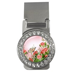 Flora Butterfly Roses Money Clips (cz)  by BangZart