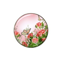 Flora Butterfly Roses Hat Clip Ball Marker (4 Pack) by BangZart