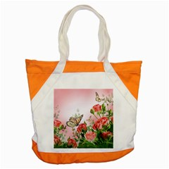 Flora Butterfly Roses Accent Tote Bag