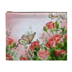 Flora Butterfly Roses Cosmetic Bag (xl)