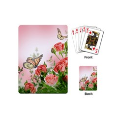 Flora Butterfly Roses Playing Cards (mini)