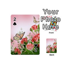 Flora Butterfly Roses Playing Cards 54 (mini)