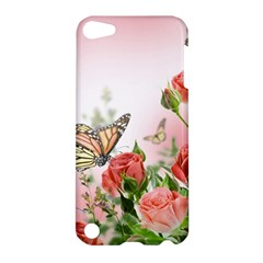Flora Butterfly Roses Apple Ipod Touch 5 Hardshell Case