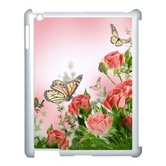 Flora Butterfly Roses Apple Ipad 3/4 Case (white)