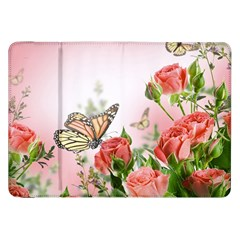 Flora Butterfly Roses Samsung Galaxy Tab 8 9  P7300 Flip Case